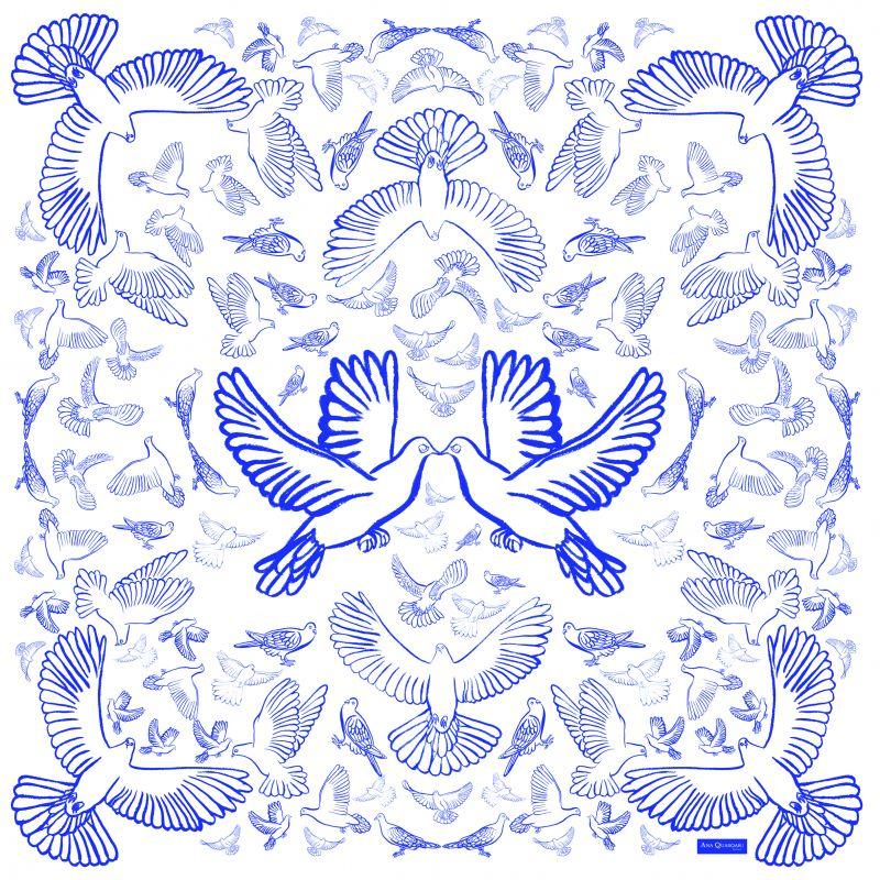Ana Quasoar Carré Oiseaux n°2