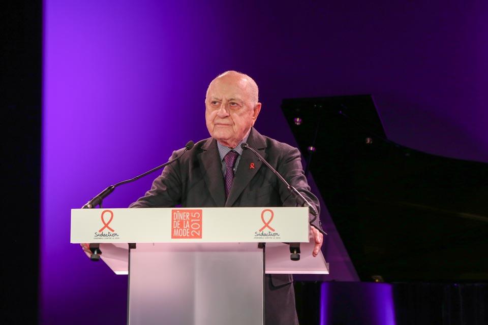 Pierre Bergé au Diner de la mode 2015 - Sidaction