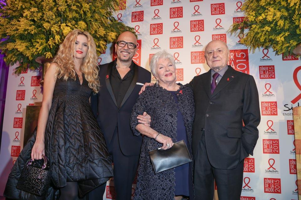 Pascal Obispo, Line Renaud et Pierre Bergé Diner de la mode 2015