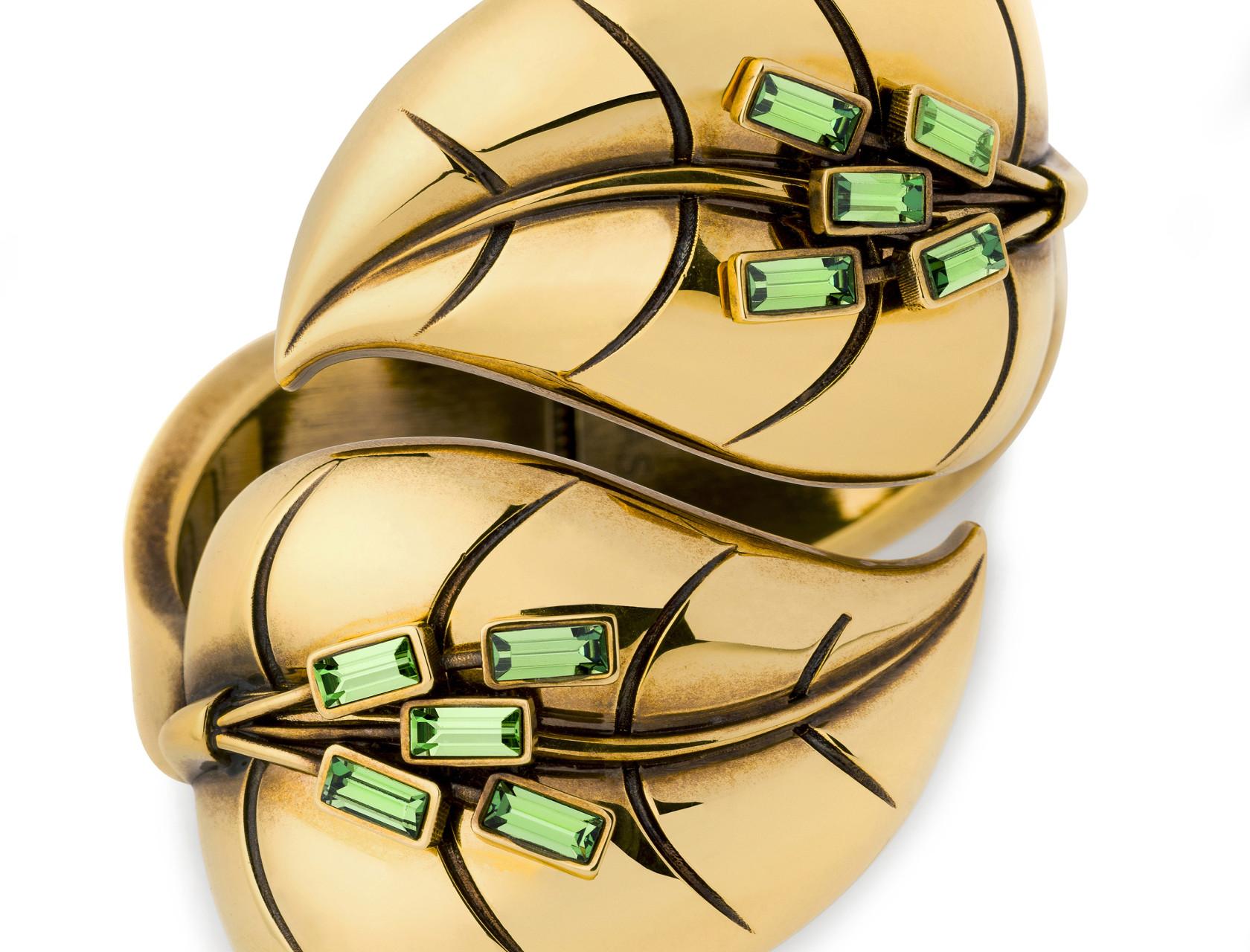 Atelier Swarovski by Sandy Powell Leaf Cuff - Green