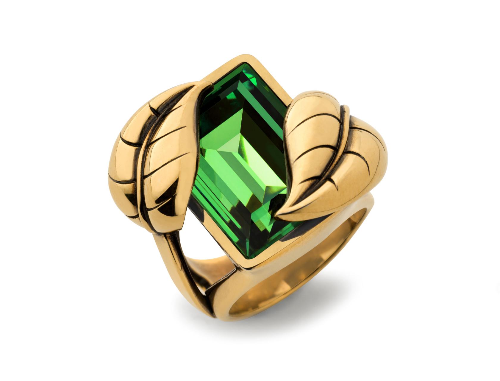 Atelier Swarovski by Sandy Powell Leaf Ring - Green
